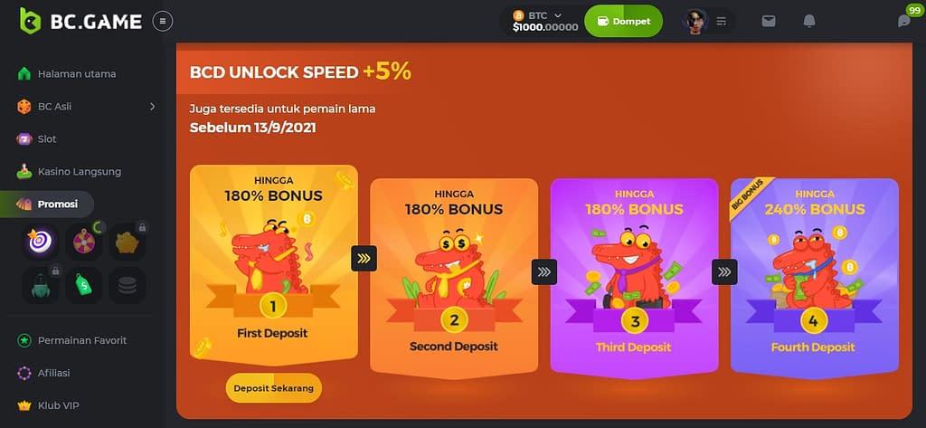 crypto kasino deposit bonus