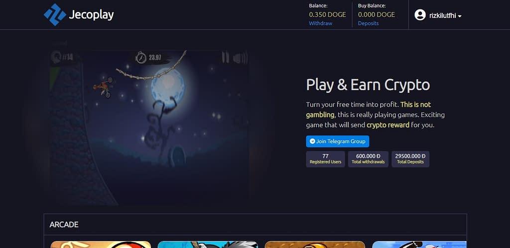 Jecoplay homepage (Nov 2020)
