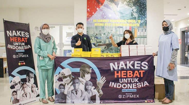 Zipmex Indonesia Bagikan 3.000 Makanan Siap Santap di Wisma Atlet